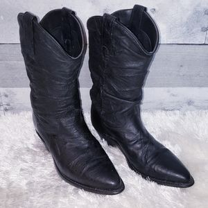 Black Dingo Leather Western Style Boots